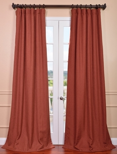 Cinnabar Heavy Faux Linen Curtain