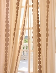 DEAL BUSTER: 2-1 Cleopatra Gold Embroidered Sheer Curtain