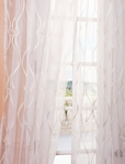 2-1 Contessa Creme Embroidered Sheer Curtain