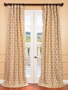 DEAL BUSTER: 2-1 Copenhagen Natural Jacquard with Organza Overlay Curtain
