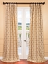 Copenhagen Natural Jacquard with Organza Overlay Curtain