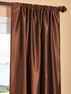 DEAL BUSTER: 2-1 Copper Brown Faux Silk Taffeta Curtain