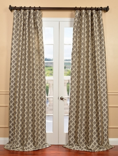 DEAL BUSTER: 2-1 Davin Grey Jacquard Curtain