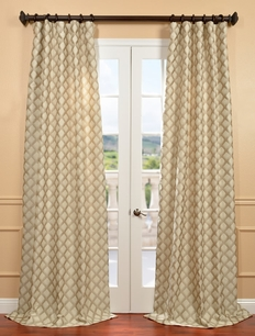 DEAL BUSTER: 2-1 Davin Neutral Jacquard Curtain