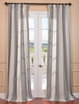 DEAL BUSTER: 2-1 Del Mar Gray Linen Blend Stripe Curtain
