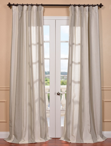 DEAL BUSTER: 2-1 Del Mar Stone Linen Blend Stripe Curtain