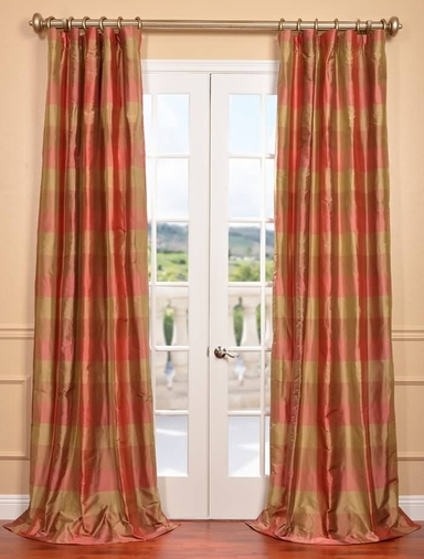 NEW: Derby Silk Plaid Curtain