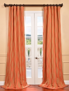 DEAL BUSTER: 2-1 Elsa Rouge Jacquard Curtain
