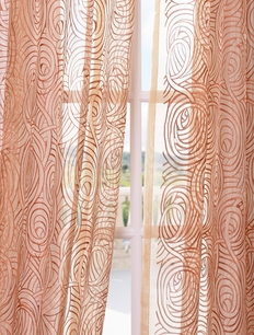 DEAL BUSTER: 2-1 Esparanza Copper Embroidered Sheer Curtain