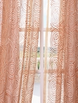 2-1 Esparanza Copper Embroidered Sheer Curtain