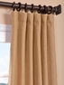Farro Gold Heavy Faux Linen Curtain