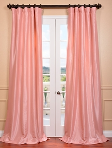 DEAL BUSTER: 2-1 Flamingo Pink� Faux Silk Taffeta Curtain
