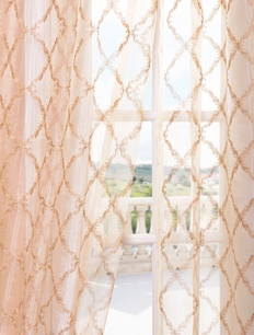 DEAL BUSTER: 2-1 Gia Gold Embroidered Sheer Curtain