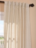 DEAL BUSTER: 2-1 Grenada Natural Linen Blend Stripe Curtain