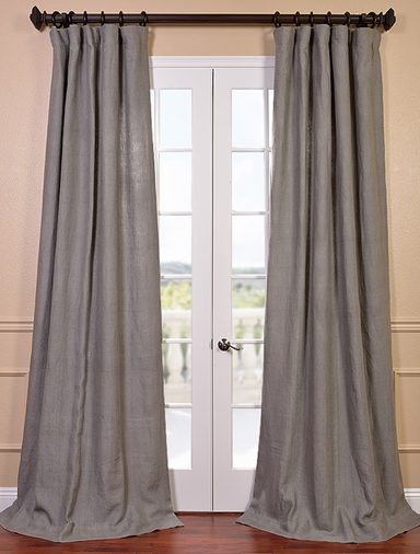 Grigio Grey French Linen Curtain