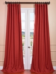 Heirloom Red Heavy Faux Linen Curtain