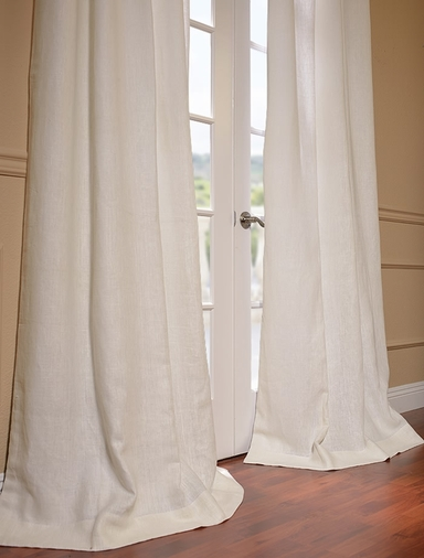 Ivoire French Linen Curtain