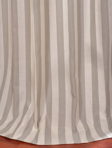 Key West Stone Linen Blend Stripe Curtain
