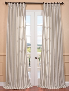 DEAL BUSTER: 2-1 Key West Stone Linen Blend Stripe Curtain