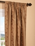 Luxembourg Bronze Embroidered Faux Silk Curtain