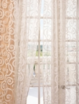 Marietta White Patterned Sheer Curtain