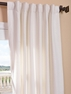 Mineral White Heavy Faux Linen Curtain