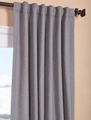 Pepper Gray Heavy Faux Linen Curtain