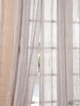Piera Taupe Gray Patterned Sheer Curtain