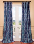 Romanian Iridescence Embroidered Faux Silk Curtain