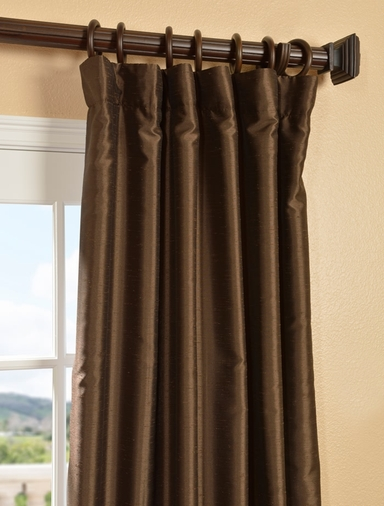 Sable Yarn Dyed Faux Dupioni Silk Curtain