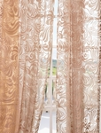 DEAL BUSTER: 2-1 Sabrina Taupe Patterned Sheer Curtain