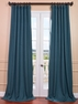 Spruce Heavy Faux Linen Curtain