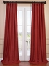 Tango Red French Linen Curtain