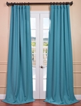 Teal Ivy Heavy Faux Linen Curtain