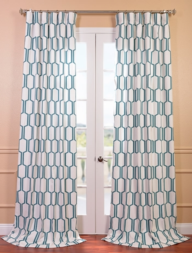 Tide Sands Printed Cotton Curtain