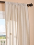 DEAL BUSTER: 2-1 Trinidad Hemp Linen Blend Stripe Curtain