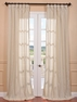 DEAL BUSTER: 2-1 Trinidad Natural Linen Blend Stripe Curtain