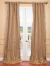 NEW: Waterford Gold Silk Stripe Curtain