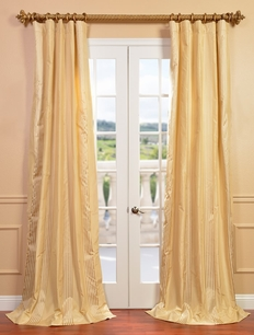 NEW: Waterford Sand Silk Stripe Curtain