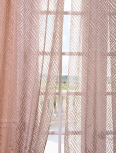 DEAL BUSTER: 2-1 Zara Taupe Patterned Sheer Curtain