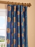 Zen Garden Iridescence Embroidered Faux Silk Curtain