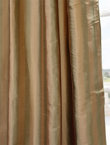 Nubia Silk Stripe Curtain