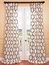 Piscean Pearl Flocked Faux Silk Curtain