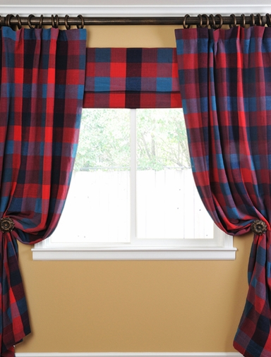 Plaid Casual Cotton Curtain