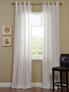 2-1 Polar White Grommet Cotenza Curtain