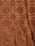 Romanian Copper Embroidered Faux Silk Swatch