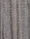 Romanian Silver Embroidered Faux Silk Swatch