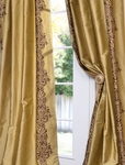 Rowena Gold Dust Silk Curtain