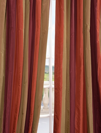 Roxbury Faux Silk Taffeta Stripe Swatch
