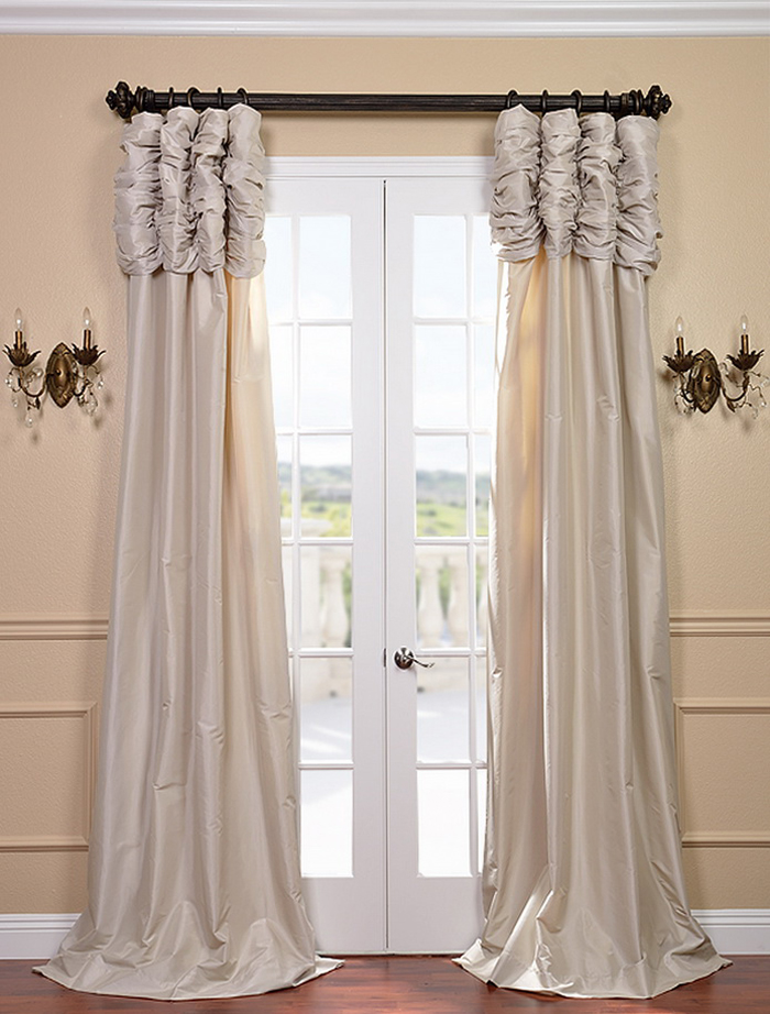 Savings on Ruched Faux Silk Taffeta Curtain and Drapes